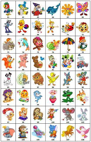 Цифры с картинками на детские шкафчики в детском саду 5