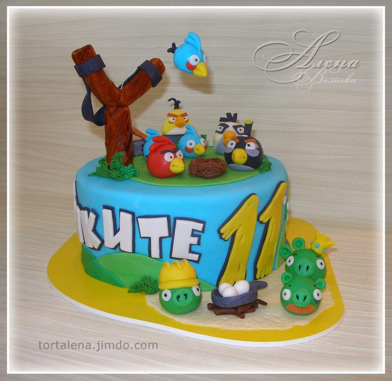 Торт злые птицы фото