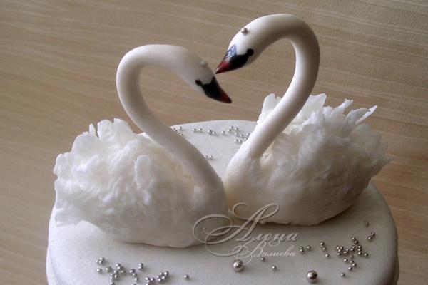 Свадебный лебедь из мастики Мастер-класс » Дизайн