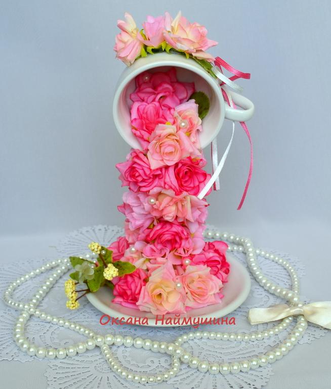 Чашки с цветами своими руками фото 25