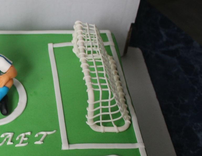 Как сделать ворота для торта футбольное поле 383