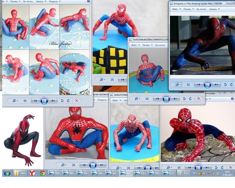 Мк человек паук из мастики своими руками