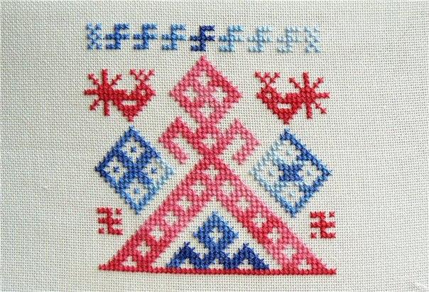 Вышивка древнеславянских оберегов