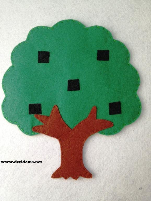 Развивающее дерево из фетра.