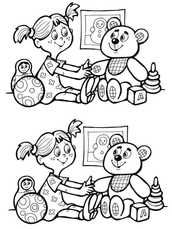 Найди 10 отличий для детей  steshkaru