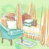 Интерьерное  решение детской комнаты