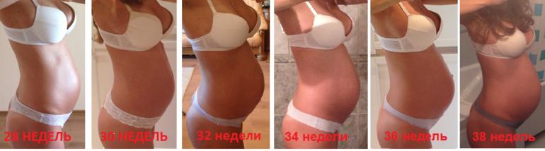 Какого размера живот у беременной 59