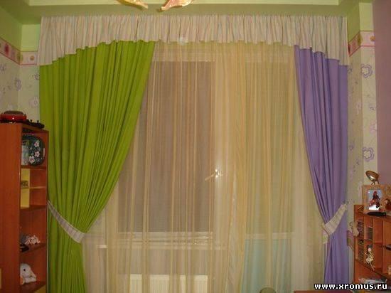 Дизайн штор на комнату фото