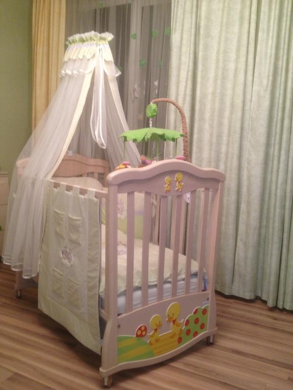 MIBB Papere Sbiancato детская кроватка-качалка + ПОДАРКИ!!! В идеальном состоянии! 20000р.