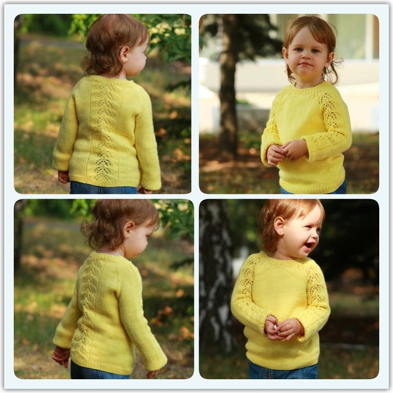 Ажурный Пуловер Для Девочки