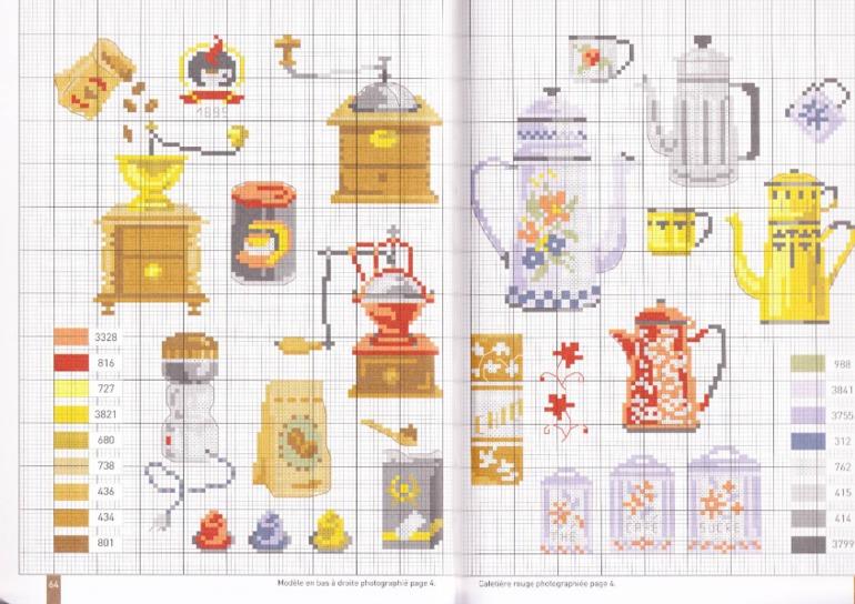 Вышивки крестом схемы кофе чай 88