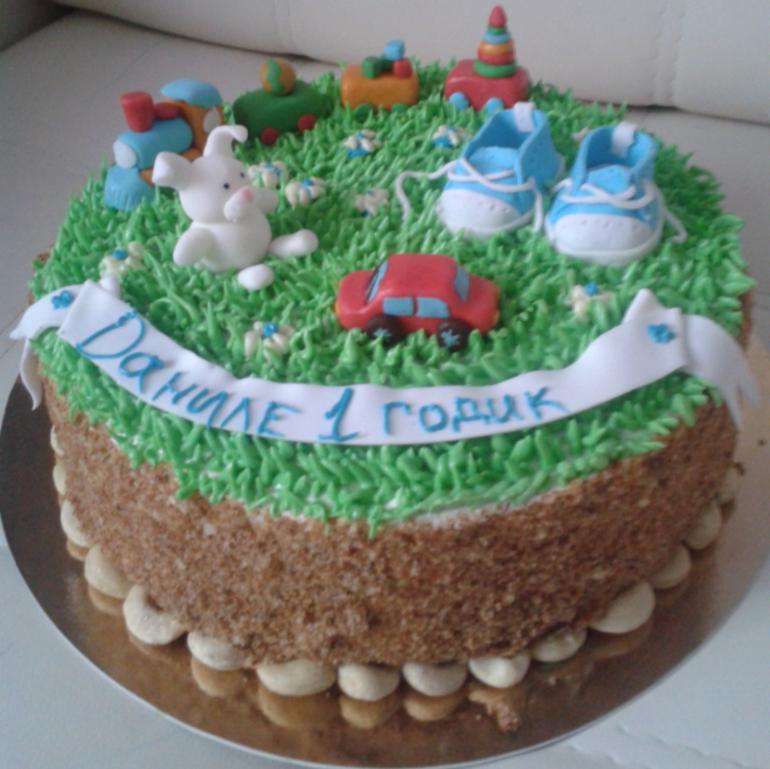 Большой торт из конфет фото 11