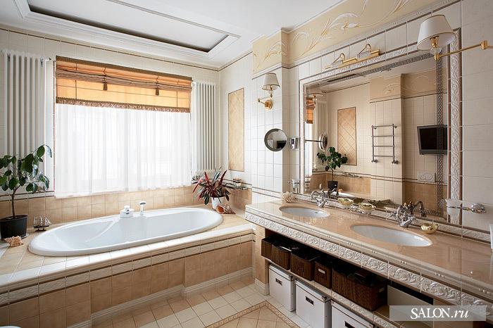 Дизайн ванную комнату в частном доме