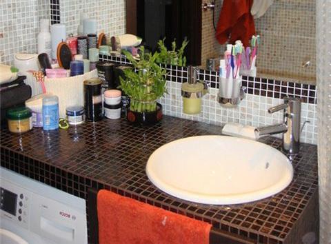 Мозаика для столешницы в ванной своими руками
