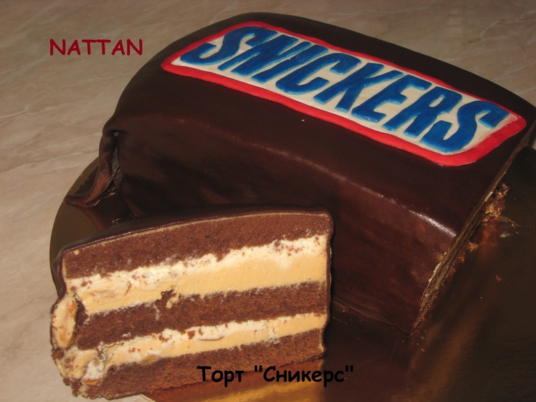 Рецепт торта сникерс фото