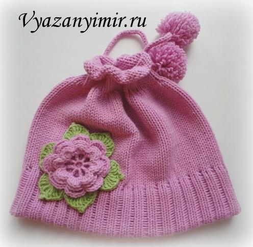 Описание вязания шапочки есть