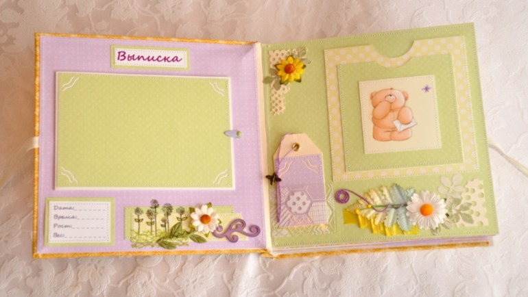 Оформление фотоальбома для новорожденной своими руками