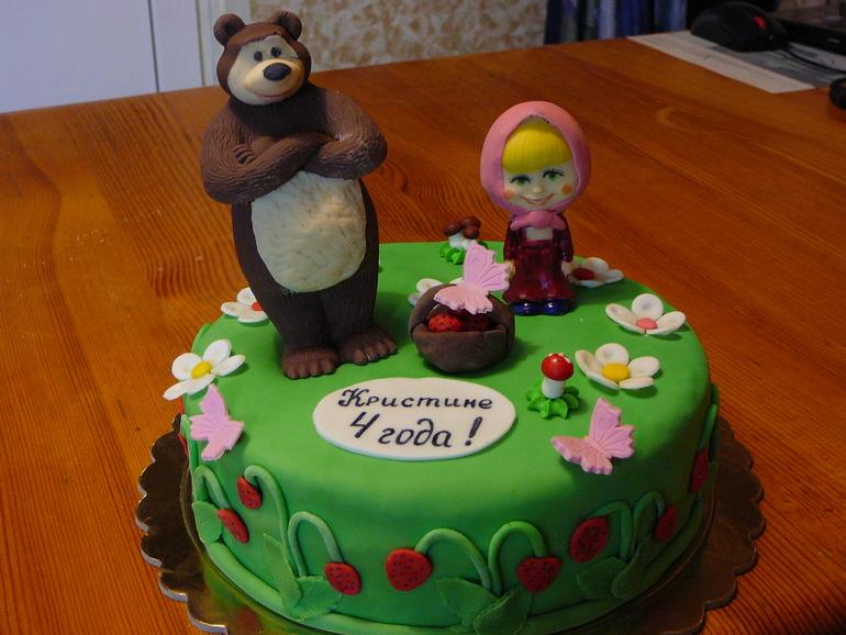 Торт мастика маша и медведь пошагово