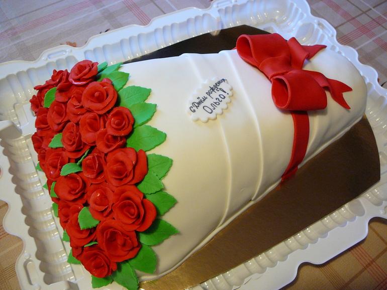 Мастер класс торта букет роз