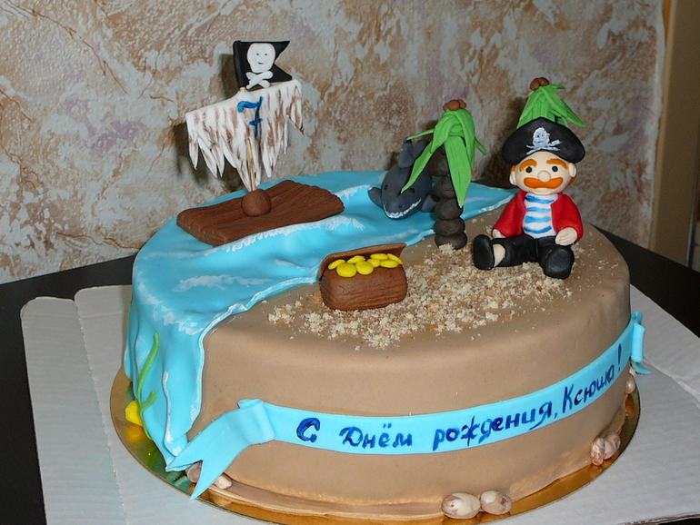 Пират торт фото