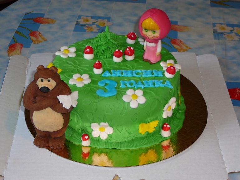 Фото детских тортов маша