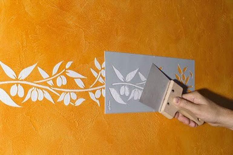 Декоративные трафареты на стены своими руками