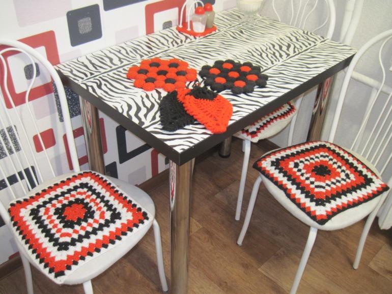 Картинки вязание крючком на кухню 146