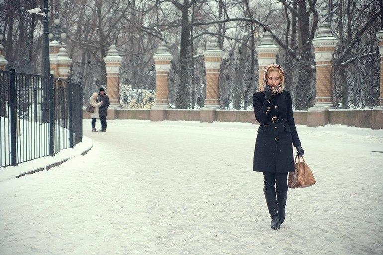 Картинки блондинки зимой фото 311-292