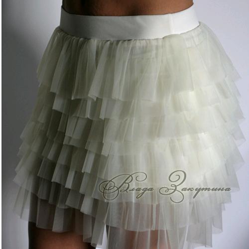 юбка с рюшами