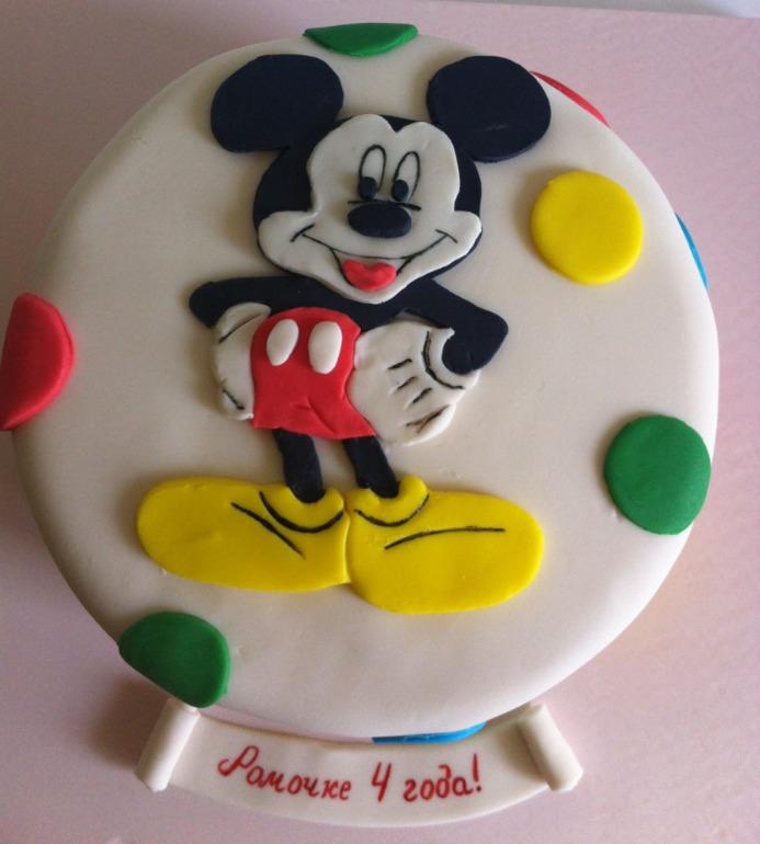 Микки маус торт мастика
