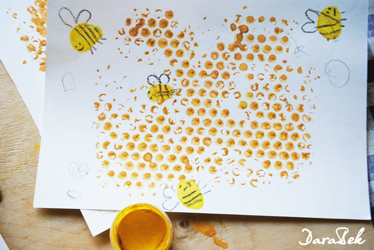 Как из бумаги сделать пчелку из