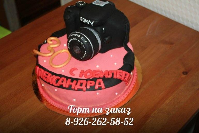 Торт с фотоаппаратом