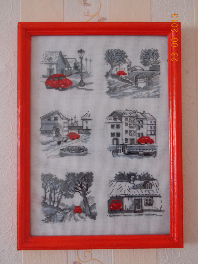 История красной машинки вышивка
