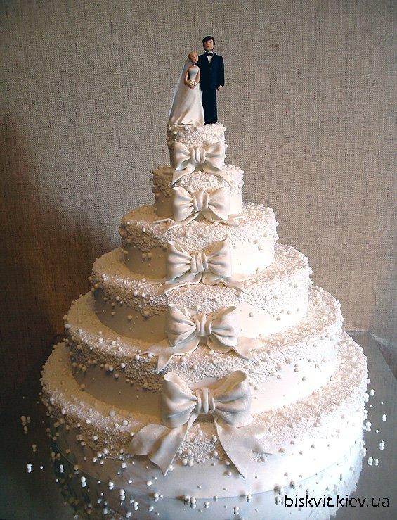 Свадебные торты: фото самых красивых без мастики, с капкейками