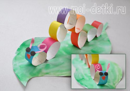 Гусеницы из бумаги своими руками