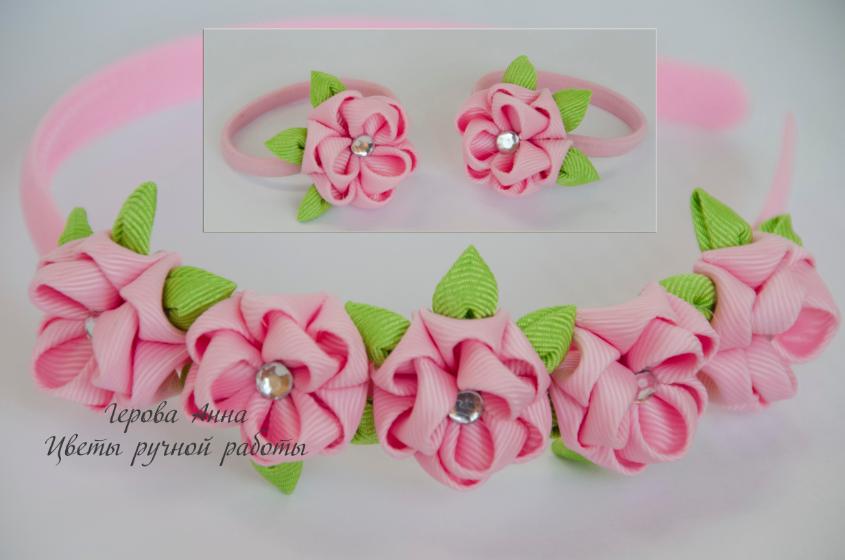Цветы из репсовой ленты 25 см мастер класс - Discovery-forum.ru