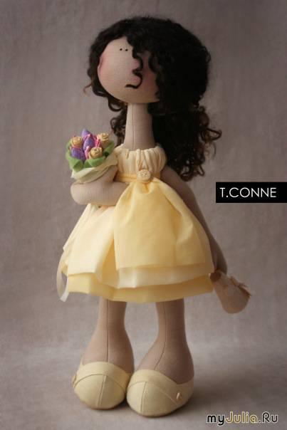 Большая кукла  из ткани