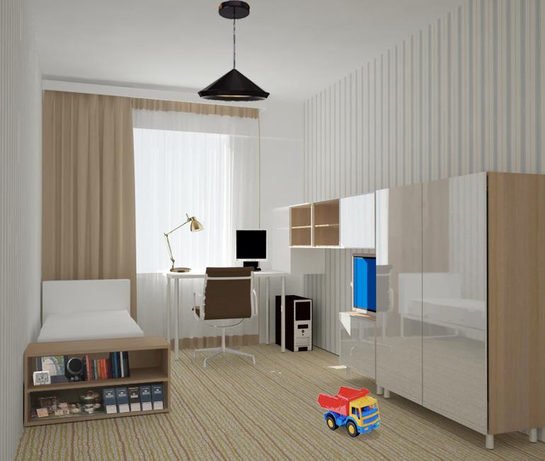 Комната для мальчика 3950х2810.