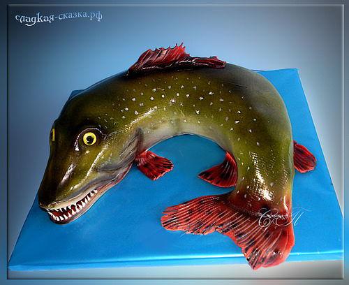 Фото торт рыба