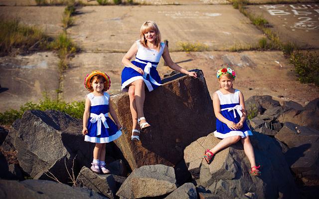 платья для мам и дочек одинаковые фото
