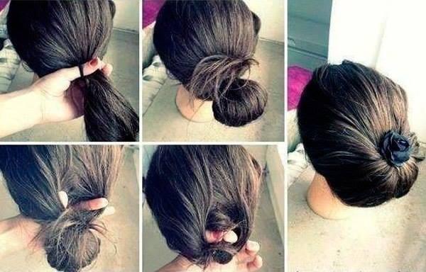 Причёска своими руками быстро и легко