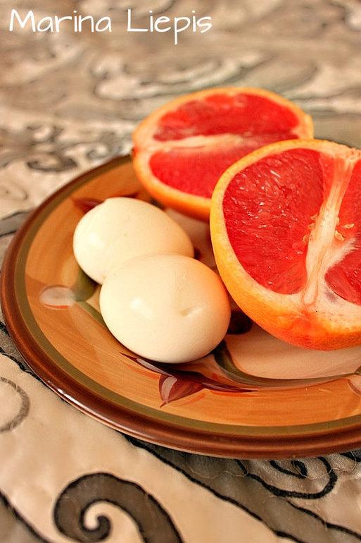 Диета завтрак грейпфрут и яйца